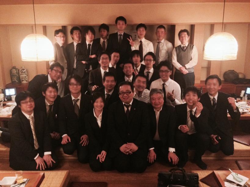 田中全国連盟会長と佐々木埼玉県連盟会長と ご協力いただいた愉快な仲間たち